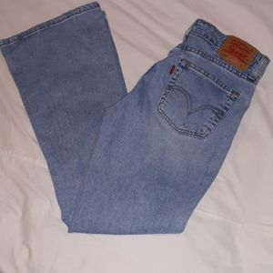 Levi's 519 Lower Stretch Flare Jeans Jr.'s 7 Short